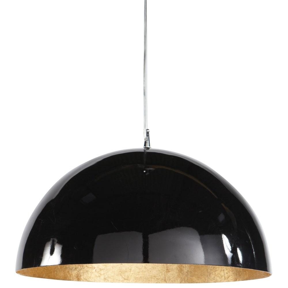 suspension en plastique noire et or d 49 cm ambre. Black Bedroom Furniture Sets. Home Design Ideas