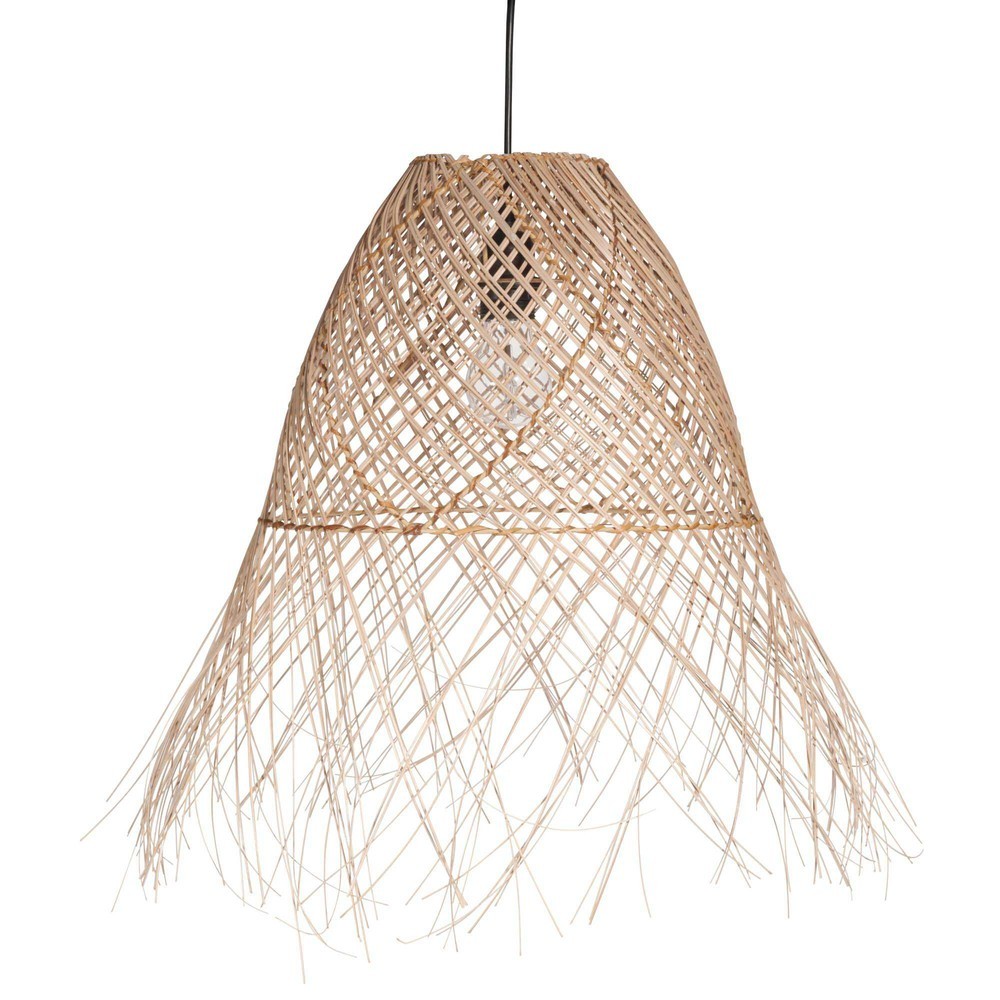 Lustre en rotin lustre rotin design en image grande for Suspension osier design