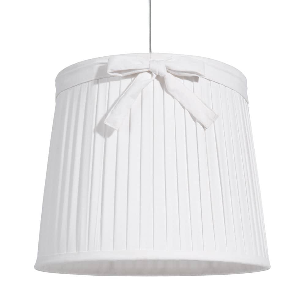 suspension non lectrifi e en m tal et toile blanche d 36 cm aubespine maisons du monde. Black Bedroom Furniture Sets. Home Design Ideas