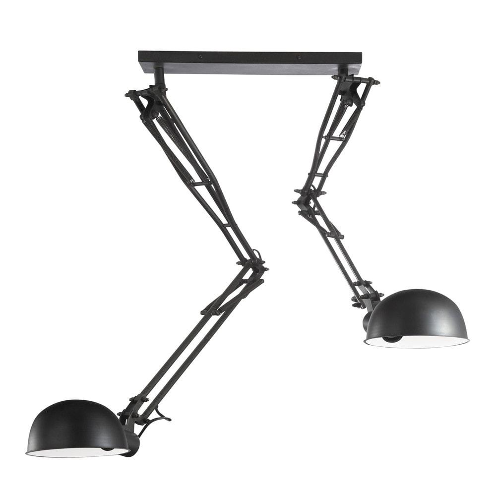 Suspension orientable en m tal noire d 120 cm newton - Suspension maison du monde ...