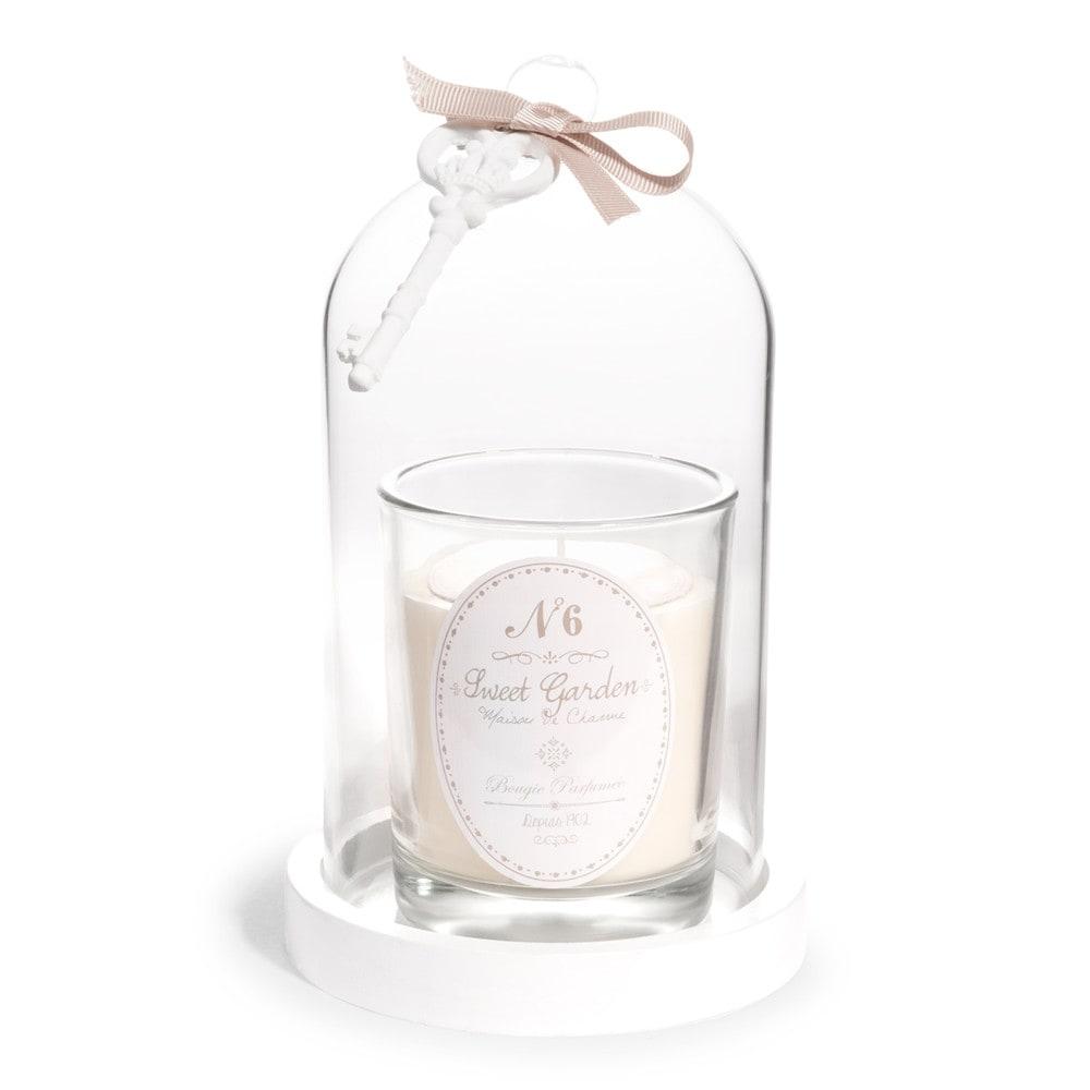 sweet garden ivory scented candle under bell jar h 20cm. Black Bedroom Furniture Sets. Home Design Ideas