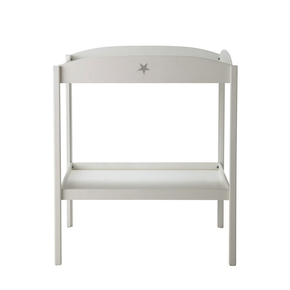 table langer blanche pastel maisons du monde. Black Bedroom Furniture Sets. Home Design Ideas