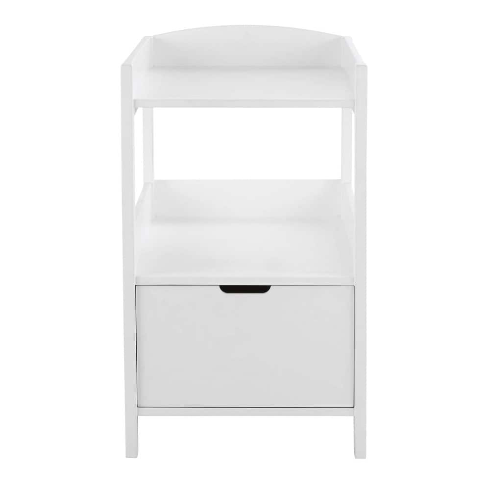Table langer en bois blanc l 80 cm sweet maisons du monde - Table a langer blanche ...