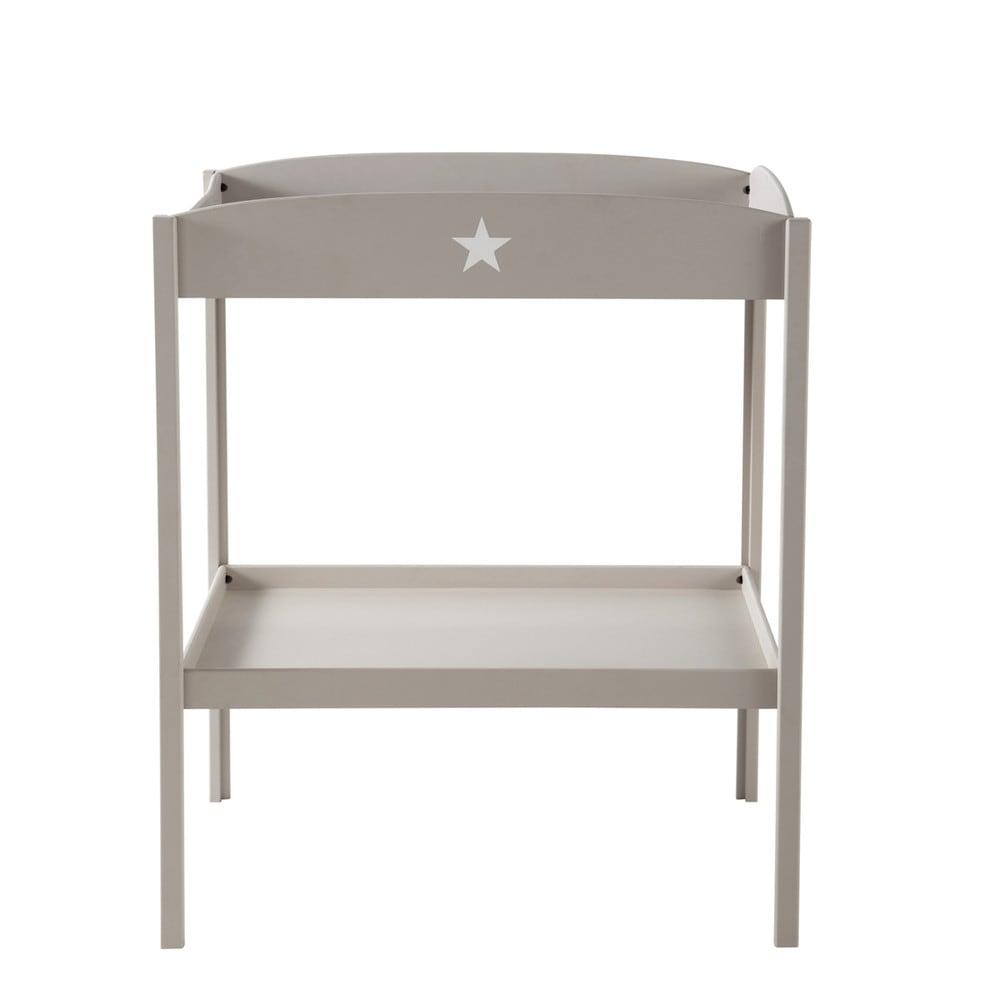 Table langer en bois taupe l 80 cm pastel maisons du monde - Petite table a langer ...