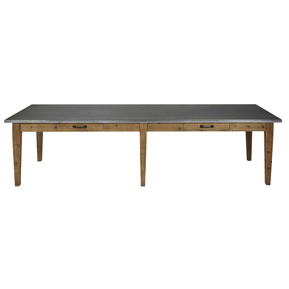 Table manger en pin recycl 12 14 personnes l300 pagnol for Table a manger 12 couverts