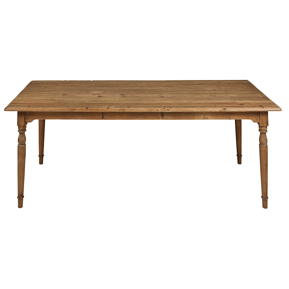table manger en pin recycl vieilli 8 10 personnes l220 cassis maisons du monde. Black Bedroom Furniture Sets. Home Design Ideas