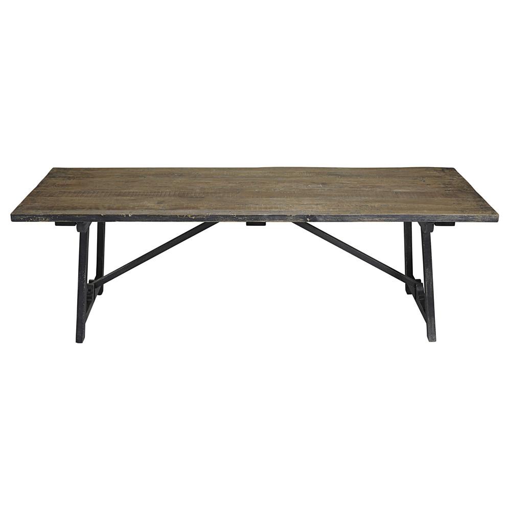 table manger en pin teint noir 8 personnes l240 arezzo maisons du monde. Black Bedroom Furniture Sets. Home Design Ideas