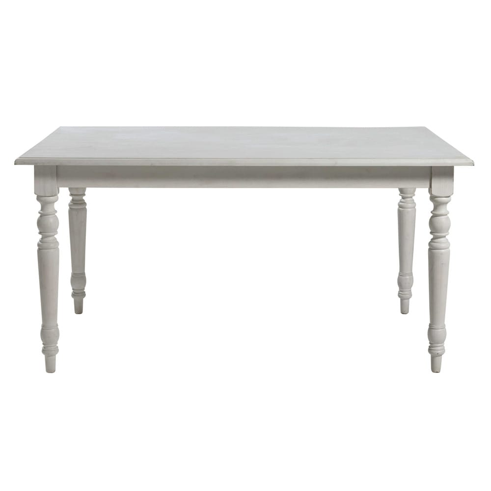 Table manger extensible blanche 6 8 personnes l160 for Table 6 personnes dimensions
