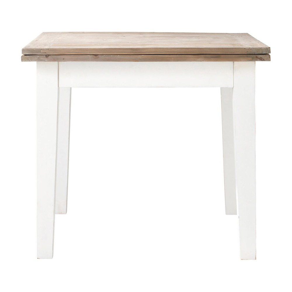 Table manger extensible en bois 8 personnes l90 provence for Table salle a manger carree 8 personnes