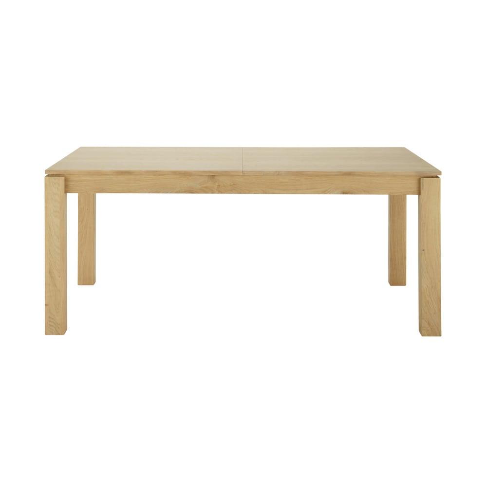 Table manger extensible en bois l160 danube maisons du for Table a manger extensible