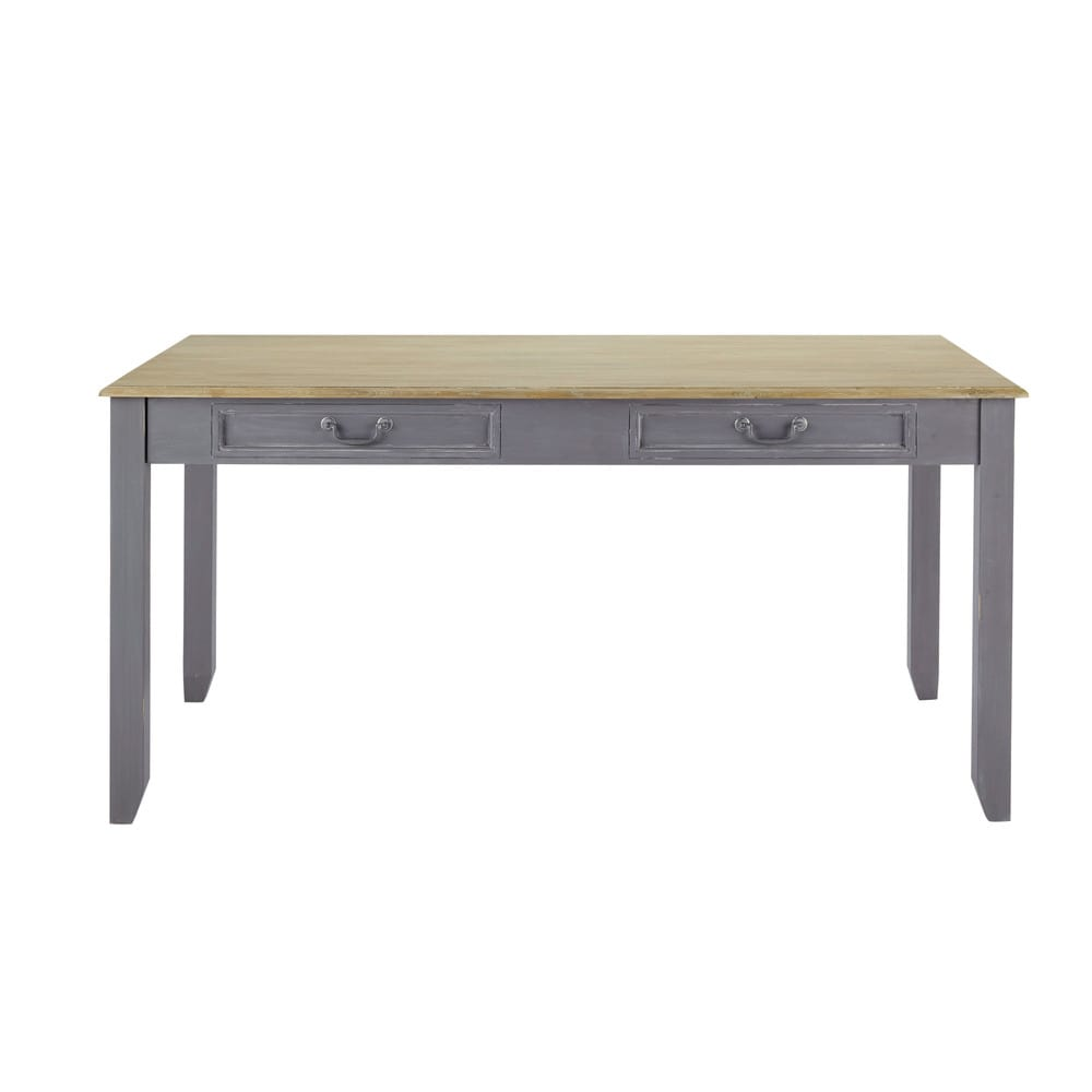 Table manger extensible grise 6 8 personnes l160 210 for Table extensible 6 a 8 personnes blooma