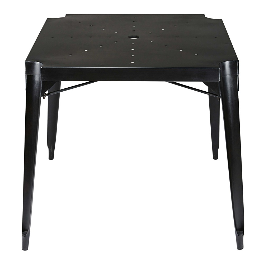 table manger indus en m tal noir 4 personnes l80 multipl 39 s maisons du monde. Black Bedroom Furniture Sets. Home Design Ideas