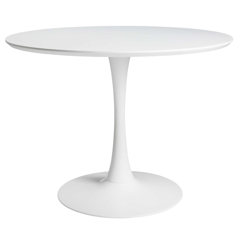 Table à manger ronde blanche 4 5 personnes D100 Circle   Maisons du Monde 6efcd5d7074d