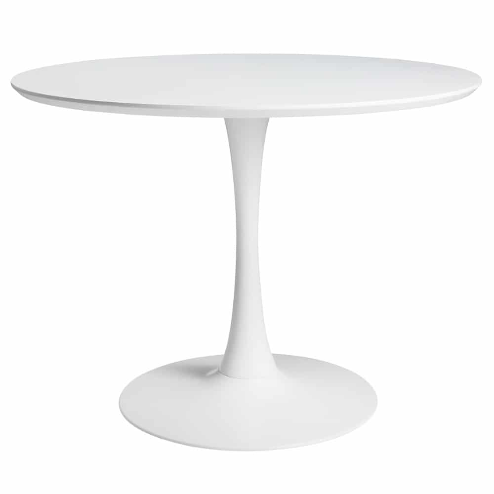 Table manger ronde blanche 4 5 personnes d100 circle for Table salle a manger ronde blanche