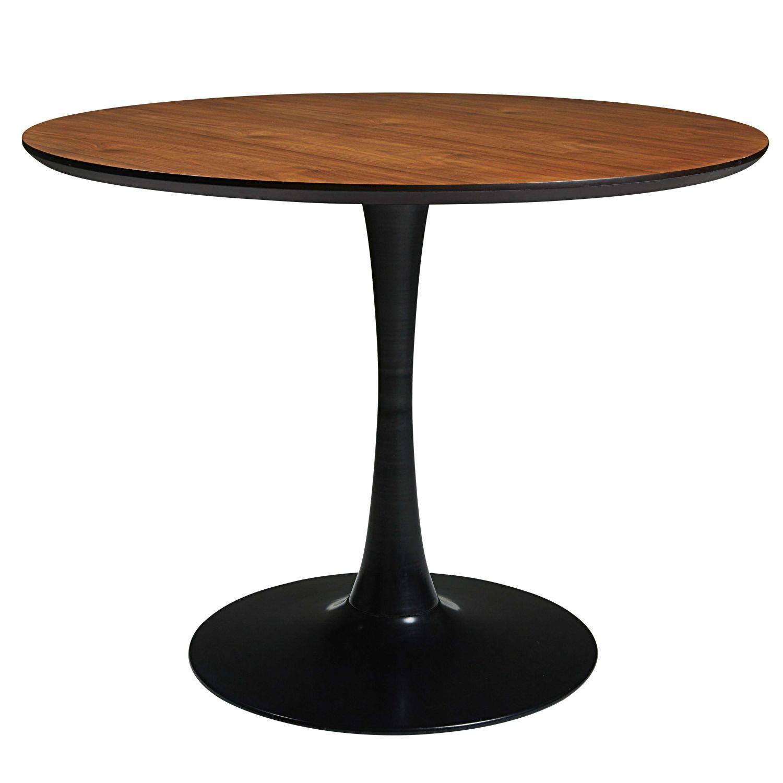 Table à Manger Ronde En Métal Noir 45 Personnes L100 Circle