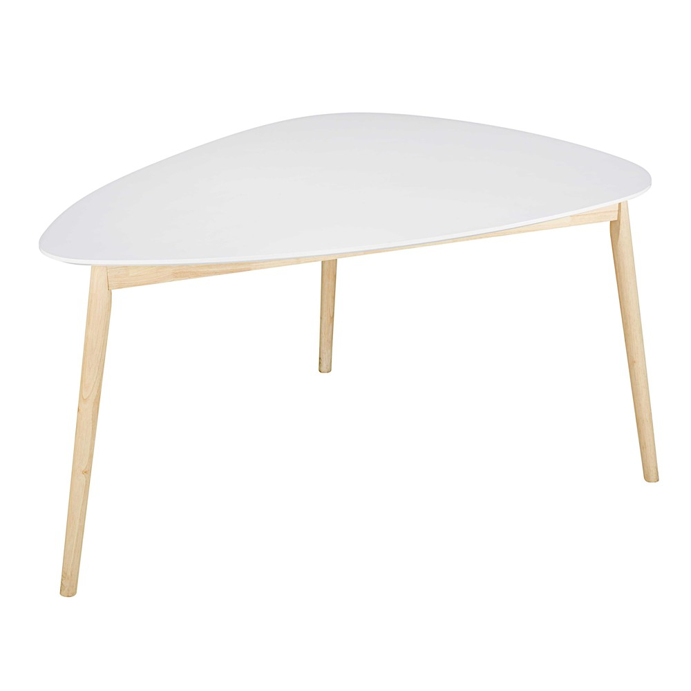 table manger scandinave blanche 4 5 personnes l150 spring maisons du monde. Black Bedroom Furniture Sets. Home Design Ideas