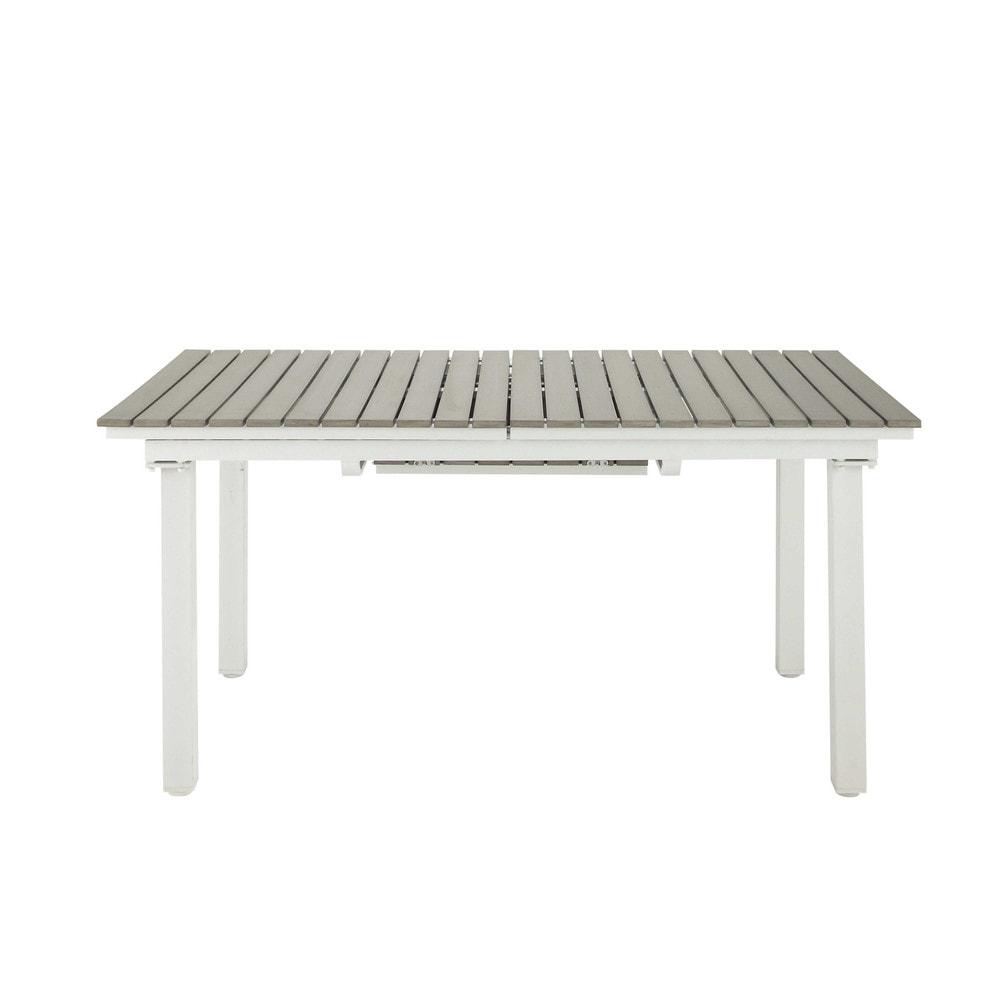 Table rallonge de jardin en aluminium l 157 cm escale - Table jardin rallonge aluminium ...