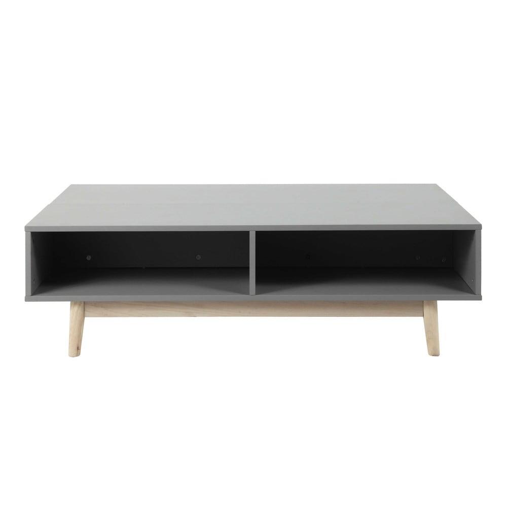 Wundersch nen table de salon grise id es de conception for Table basse avec coffre