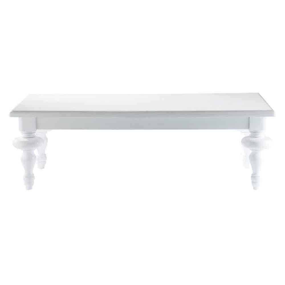 Table basse blanche barocco maisons du monde - Table basse pas cher blanche ...