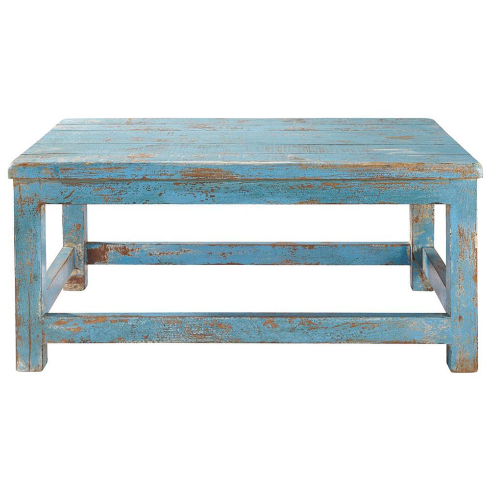 table basse bleue avignon maisons du monde. Black Bedroom Furniture Sets. Home Design Ideas