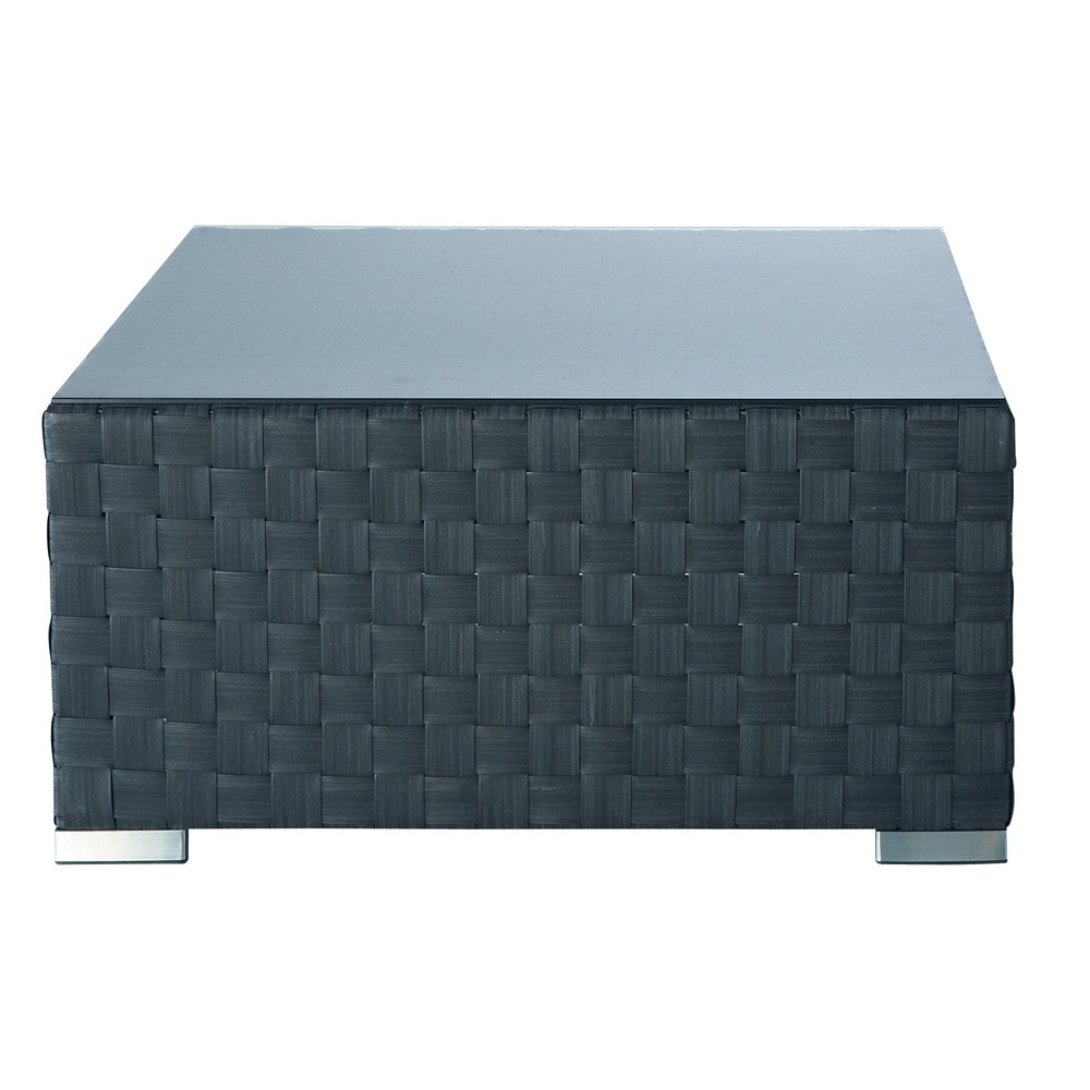table basse carr e gris anthracite square garden maisons. Black Bedroom Furniture Sets. Home Design Ideas