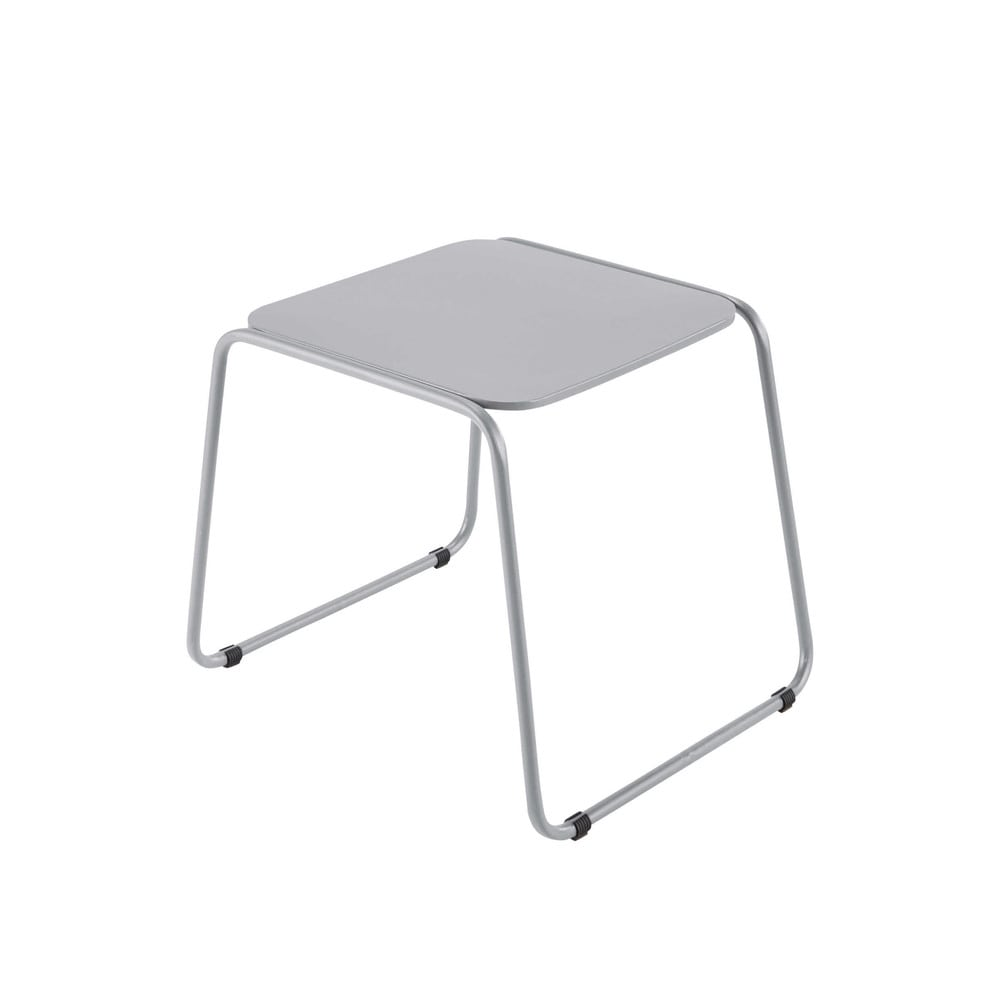 table basse de jardin en acier gris ardoise l 55 cm swann maisons du monde. Black Bedroom Furniture Sets. Home Design Ideas