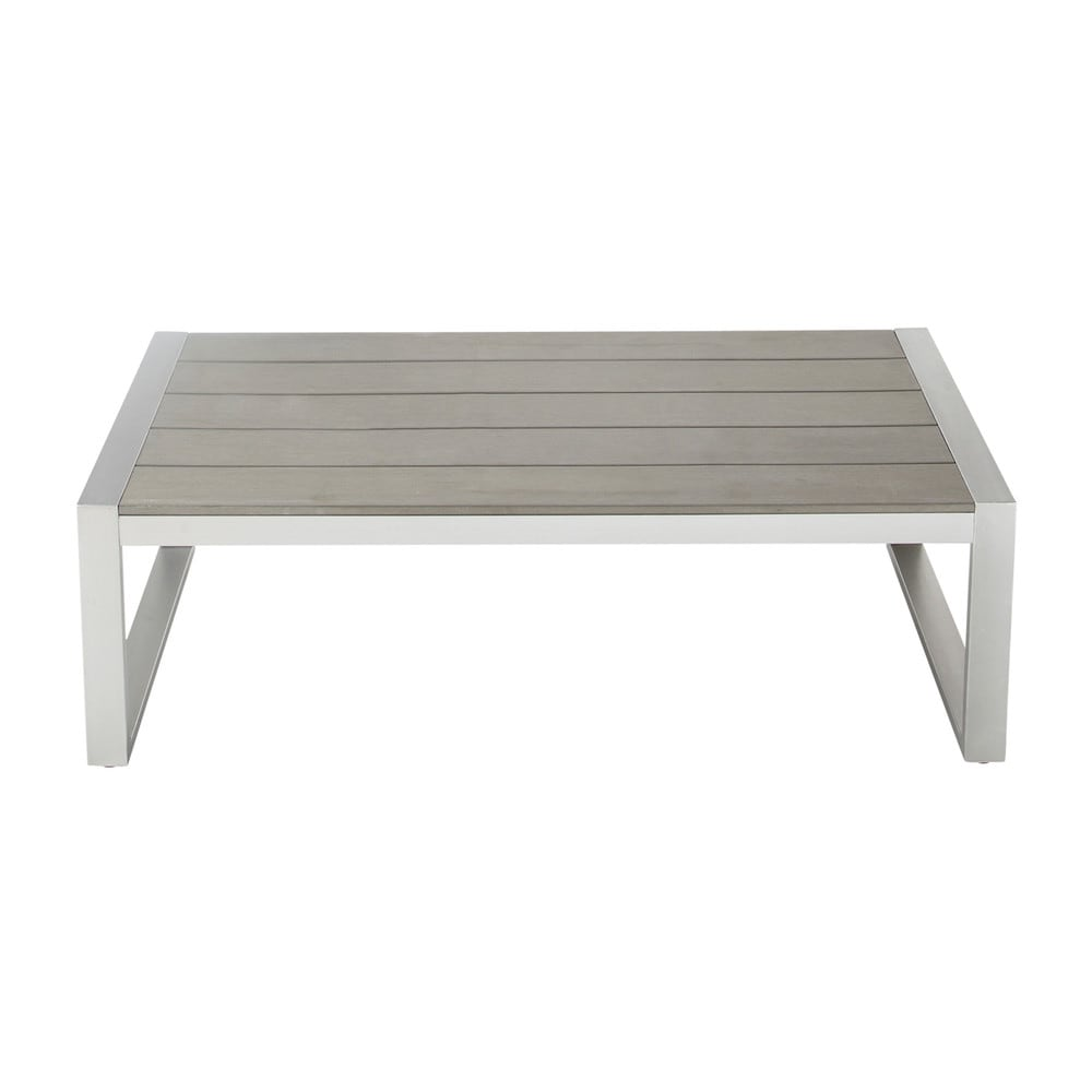 Table basse de jardin en aluminium l 110 cm brisbane - Table basse jardin metal ...