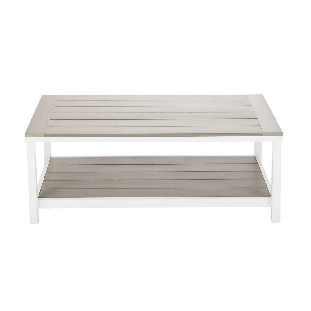 Table basse de jardin en aluminium l 110 cm ulysse maisons du monde - Meuble tv jardin d ulysse ...