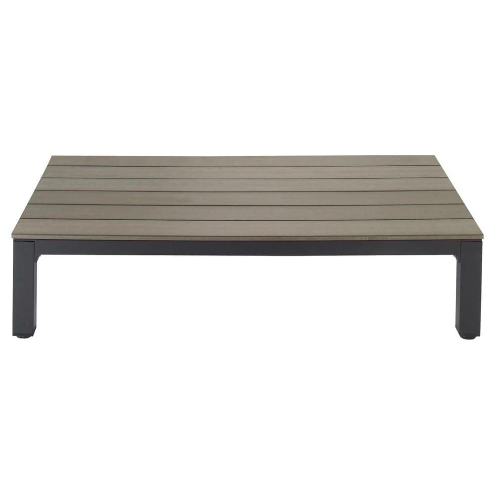Table basse de jardin en aluminium l 130 cm escale for Table de jardin maison du monde