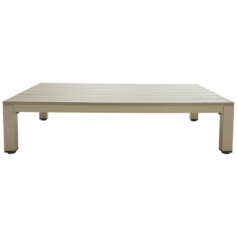 table basse de jardin en aluminium taupe l 130 cm ithaque. Black Bedroom Furniture Sets. Home Design Ideas