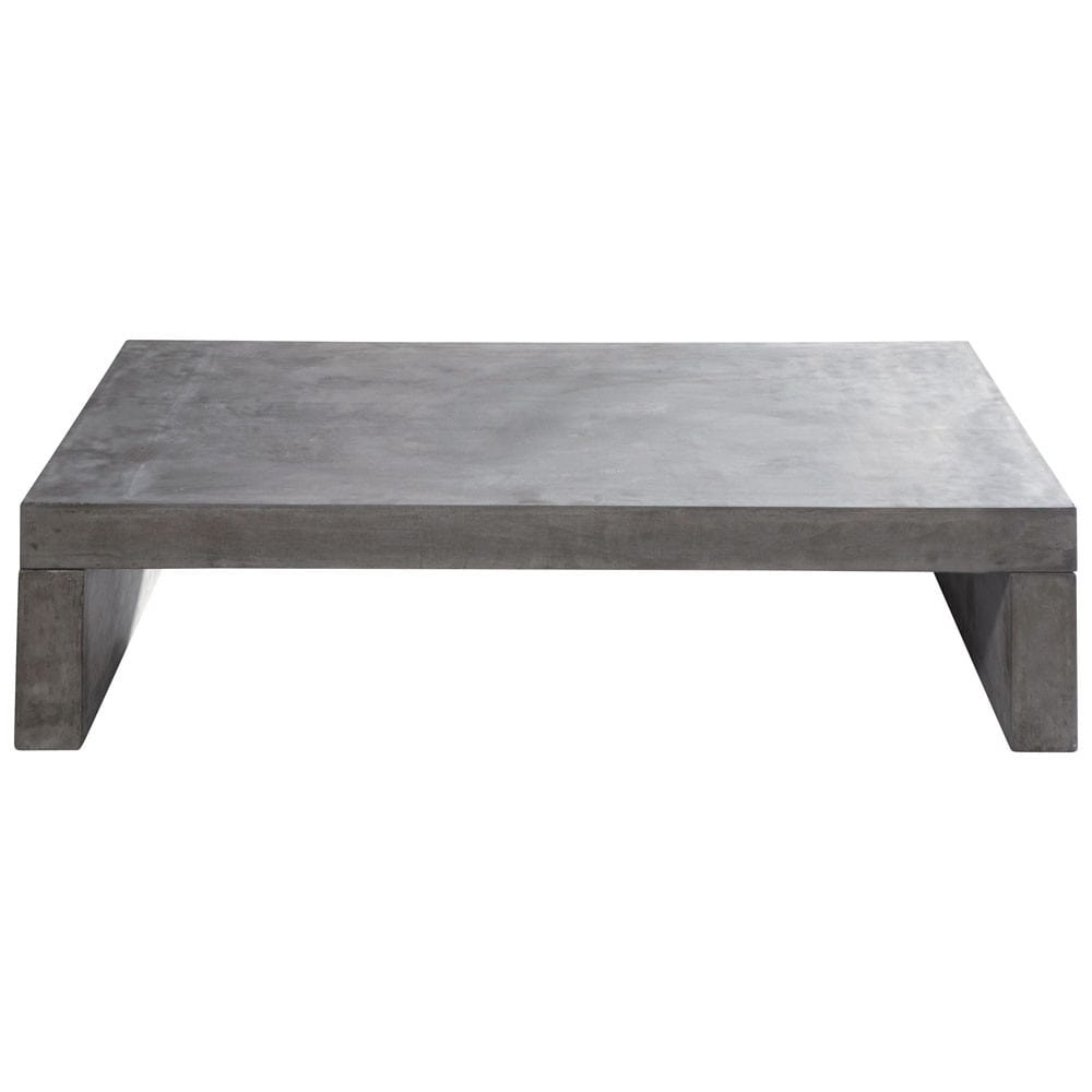 table basse de jardin en ciment effet b ton gris clair l 130 cm graphite maisons du monde. Black Bedroom Furniture Sets. Home Design Ideas