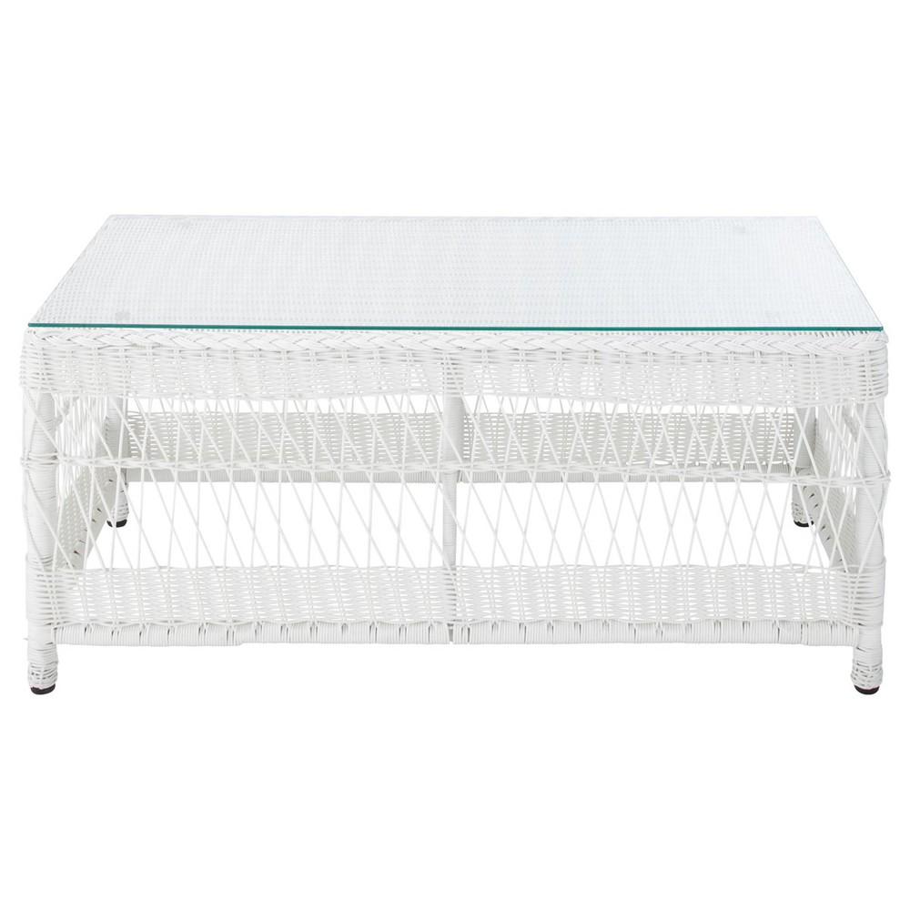 Table Basse De Jardin En Verre Tremp Et R Sine Tress E L