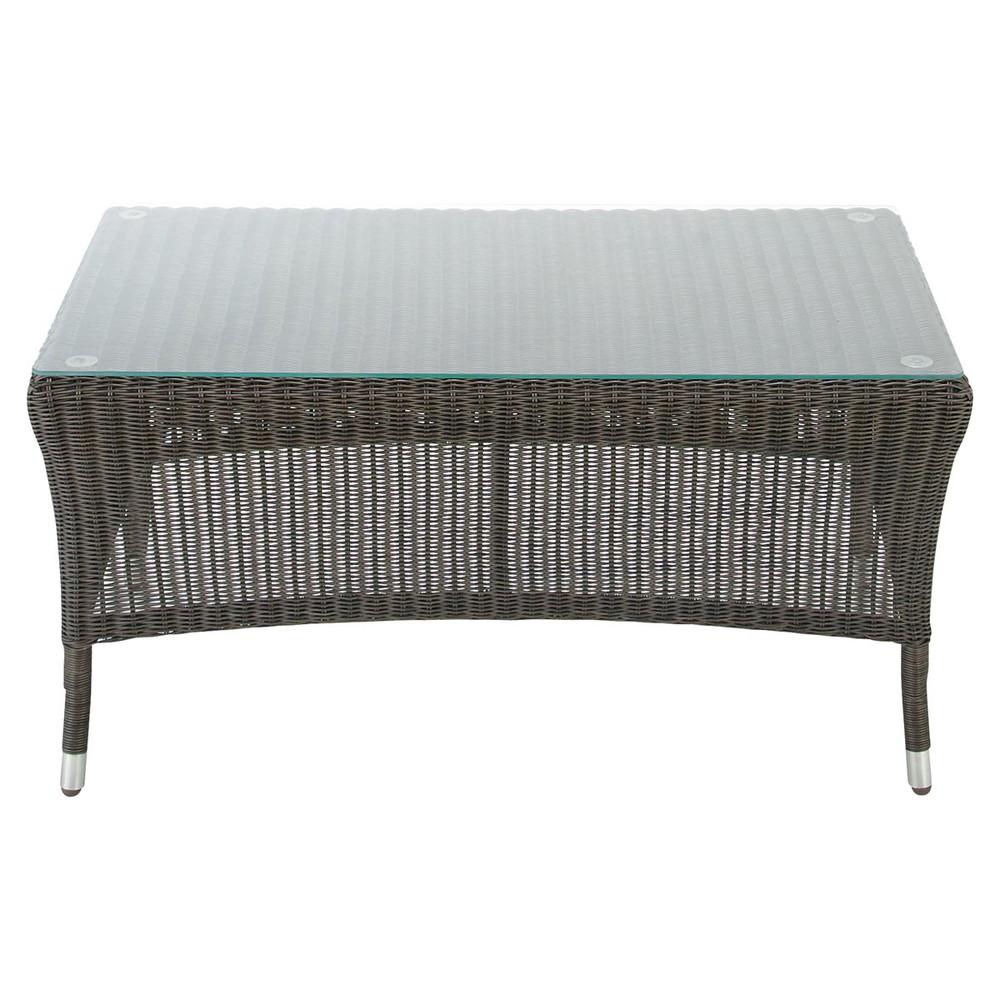 Table basse de jardin en verre tremp l 110 cm lombok for Petite table de jardin maison du monde