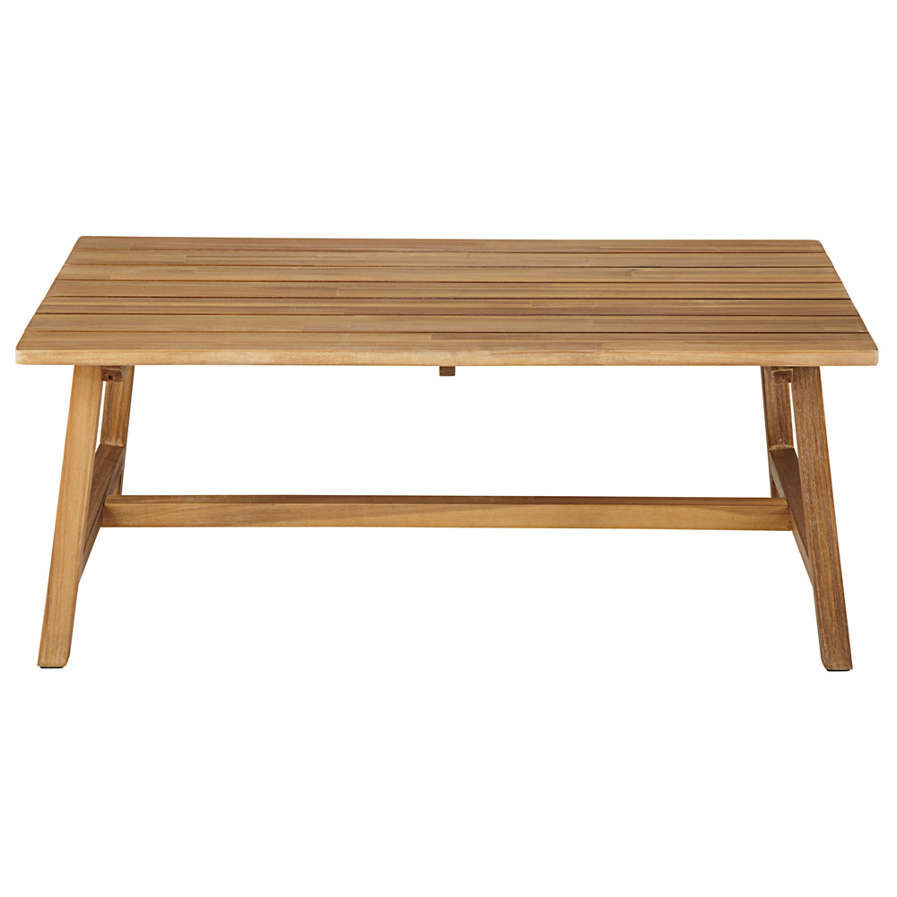 Table basse de jardin rectangulaire en acacia massif dakar - Table basse de jardin ...