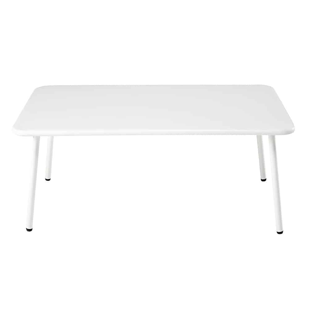table basse de jardin rectangulaire en m tal blanc maldives maisons du monde. Black Bedroom Furniture Sets. Home Design Ideas