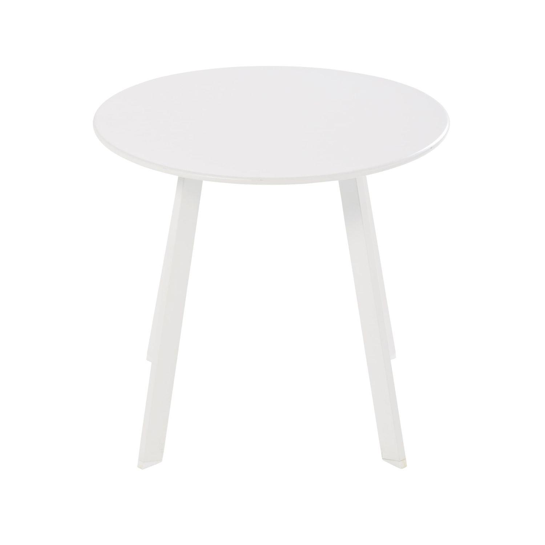 Table basse de jardin ronde en métal blanc Monopoli | Maisons du Monde