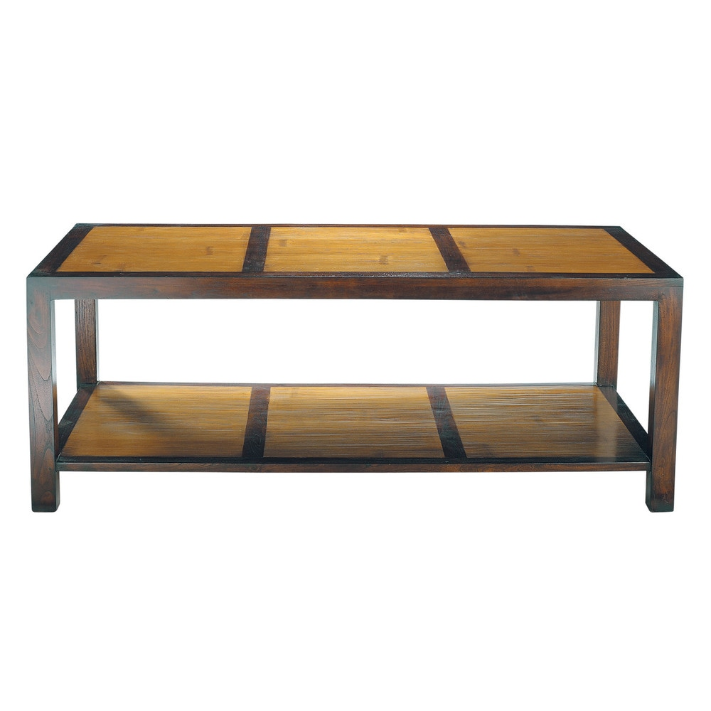 table basse en bambou et teck massif l 120 cm bamboo maisons du monde. Black Bedroom Furniture Sets. Home Design Ideas