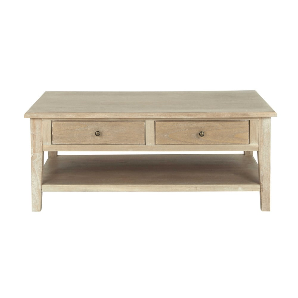 table basse en bois de paulownia grise l 110 cm cavaillon maisons du monde. Black Bedroom Furniture Sets. Home Design Ideas