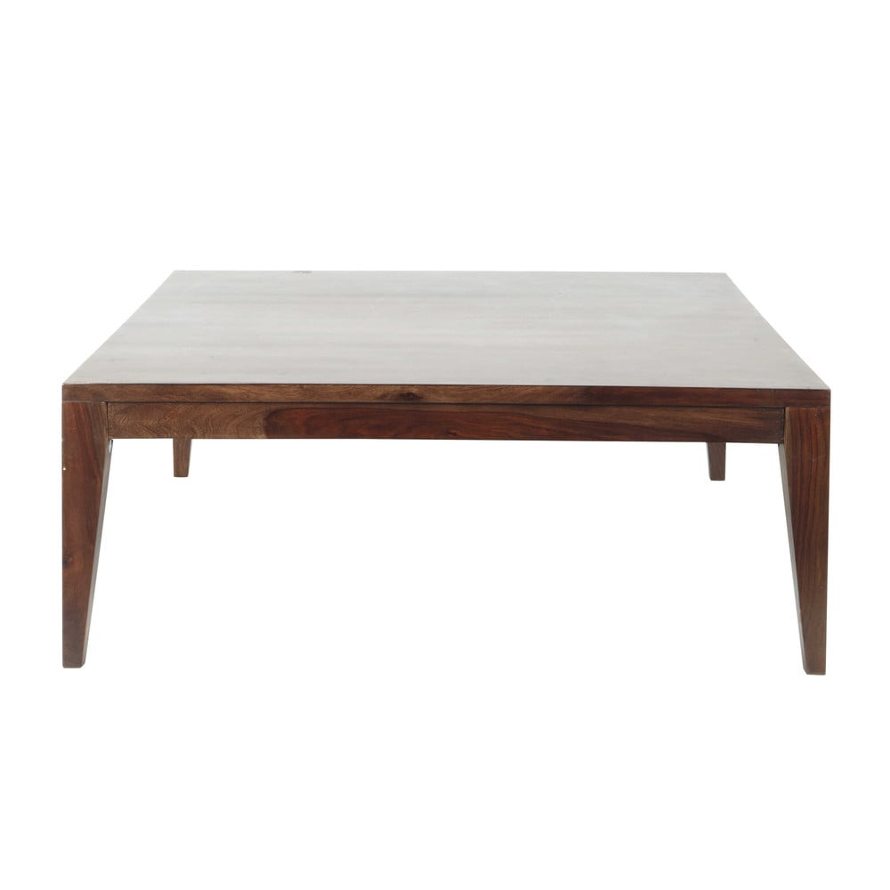 Table basse en bois de sheesham massif brun l 100 cm soho for La maison du monde table basse