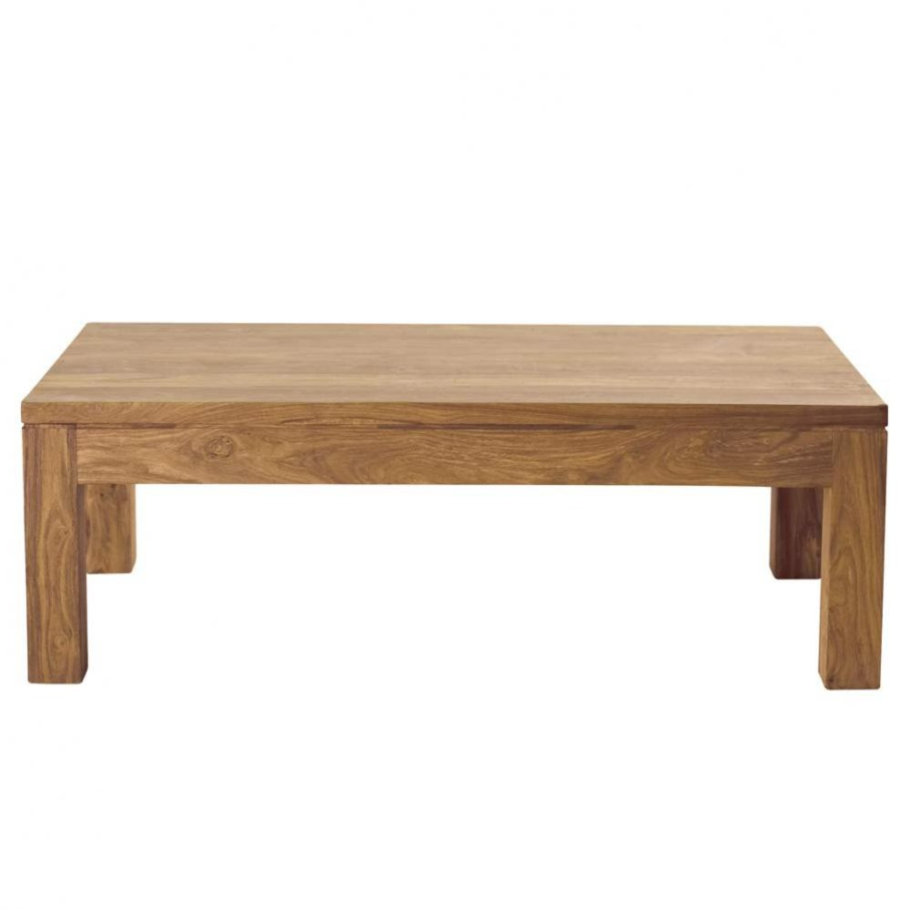 Table basse en bois de sheesham massif l 110 cm stockholm - Table salon en bois ...