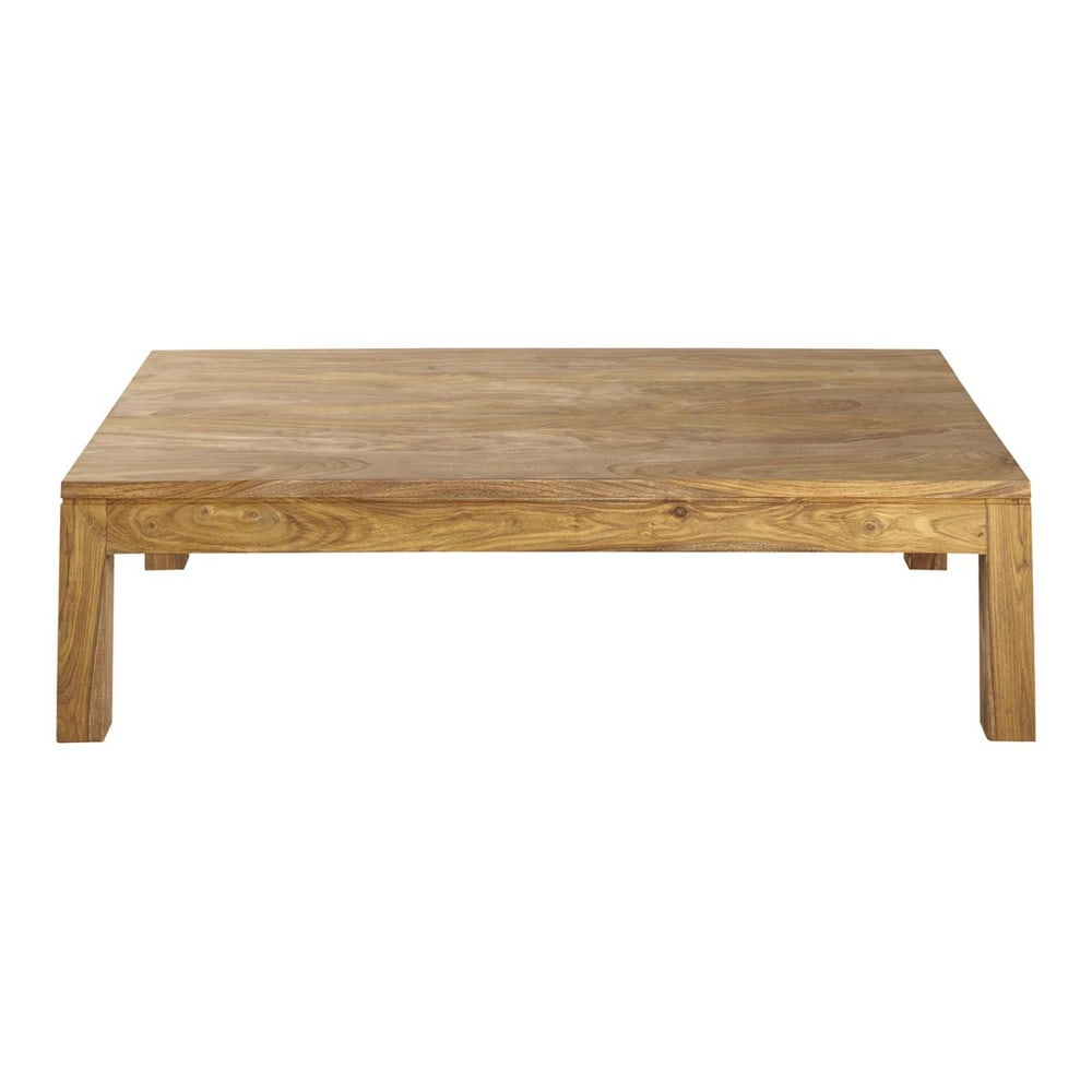 Table basse en bois de sheesham massif l 140 cm stockholm - Table basse beton maison du monde ...