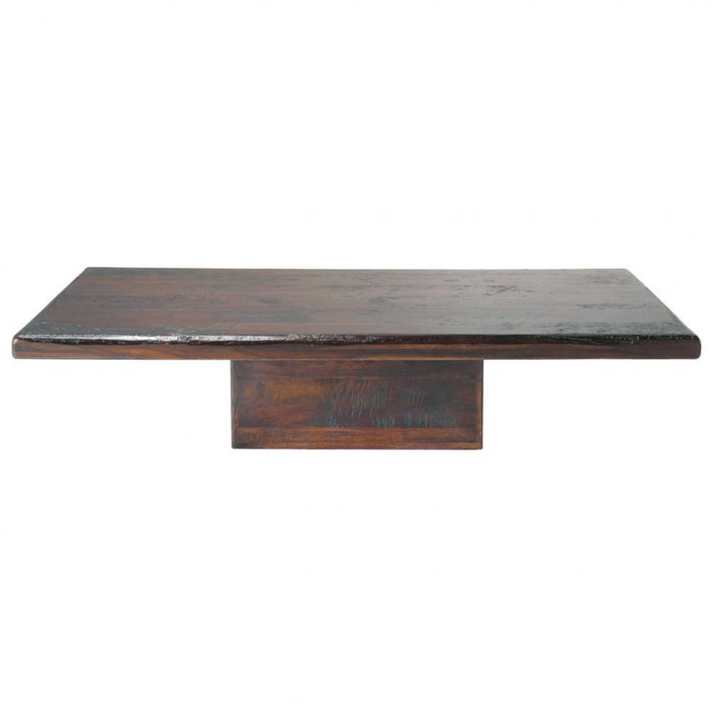 Table basse en bois de sheesham massif l 150 cm - Table basse en bois massif ...