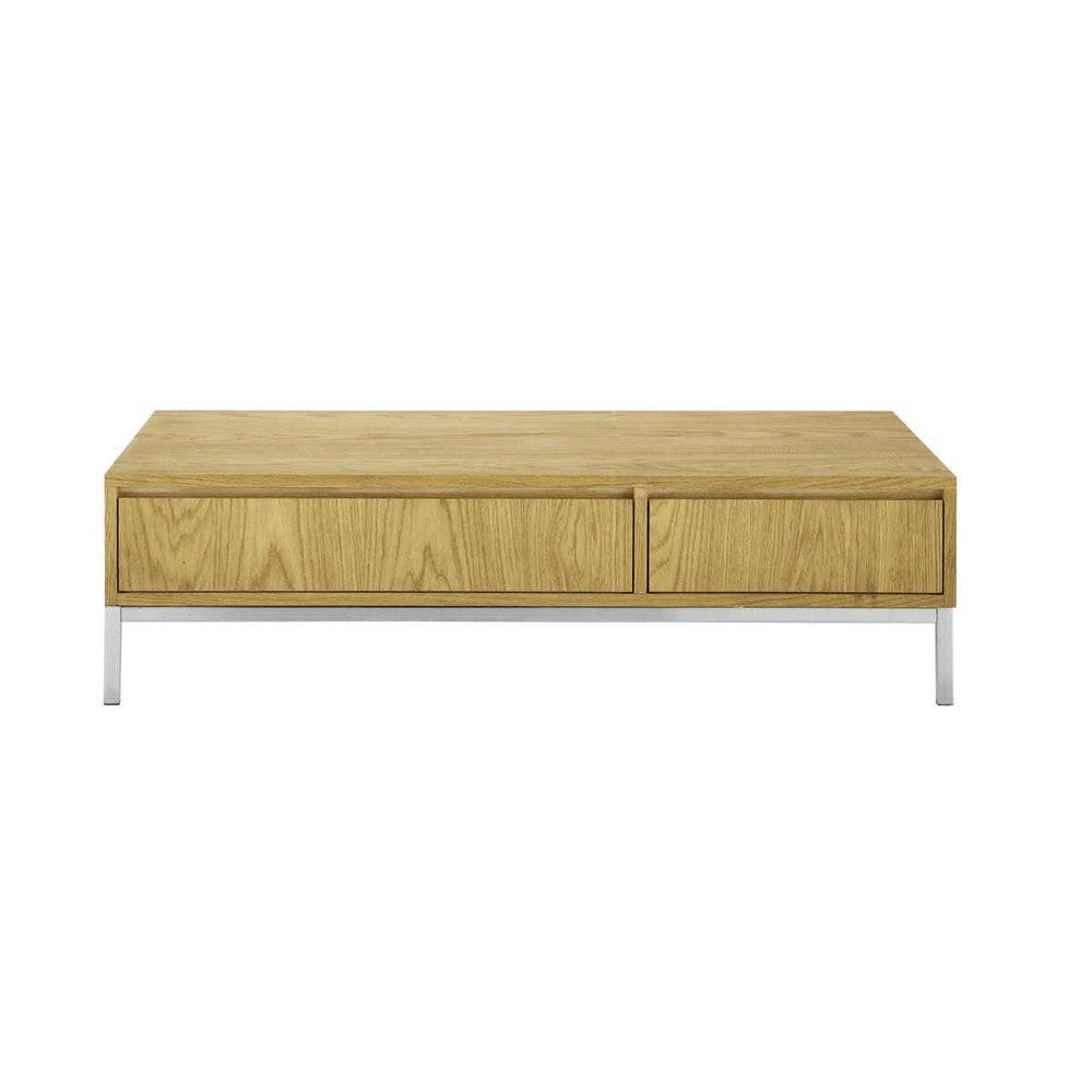 Table basse en bois et m tal l 130 cm vancouver maisons - Table basse bois et metal ...