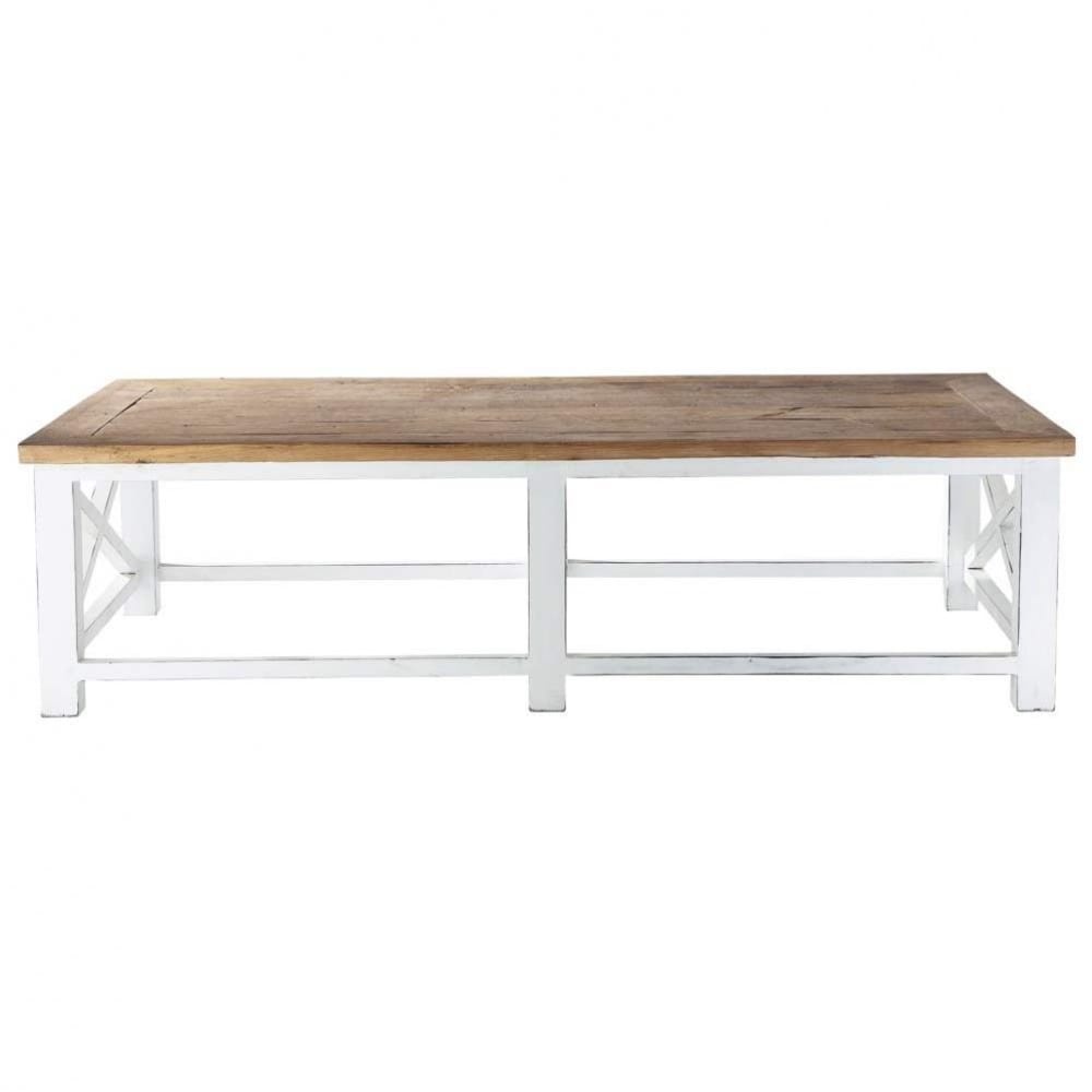 Table basse en bois recycl l 160 cm sologne maisons du for Table basse maison du monde