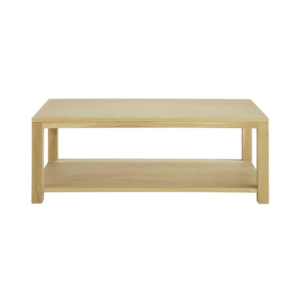 Table basse en ch ne massif l 110 cm danube maisons du monde for Table basse en chene massif