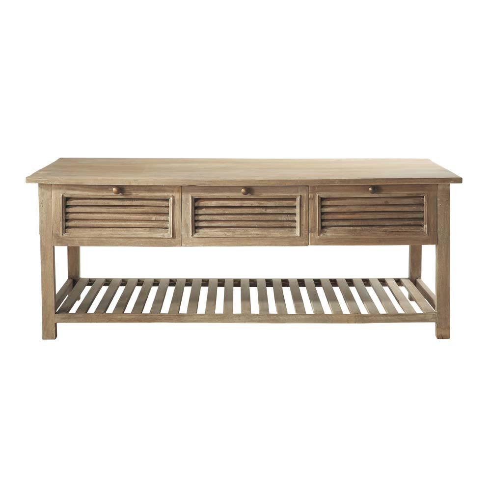 Table basse en manguier l 130 cm persiennes maisons du monde - Table basse en manguier ...