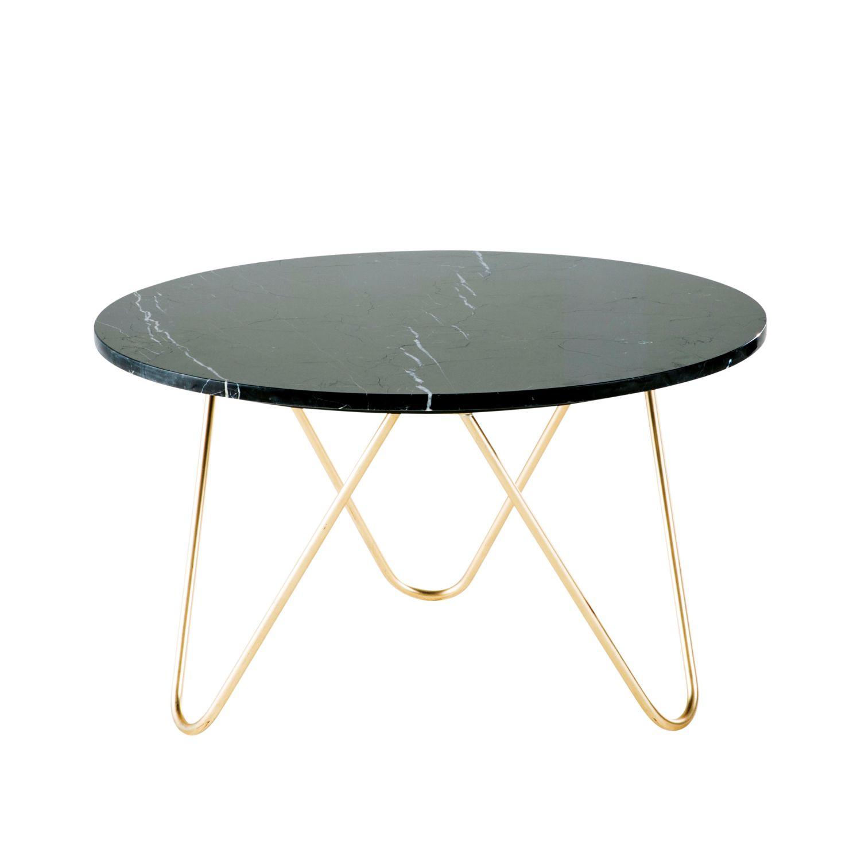 Table Basse En Marbre Noir Et Metal Dore Eagle Maisons Du Monde