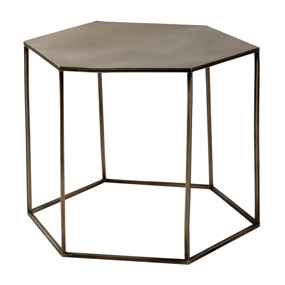 Table basse en m tal cuivr l 60 cm cooper maisons du monde - Table basse en metal ...