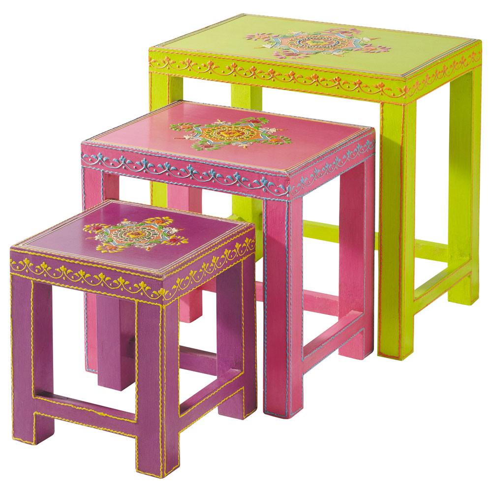 Table basse gigogne enfant roulotte maisons du monde - Maison du monde table gigogne ...