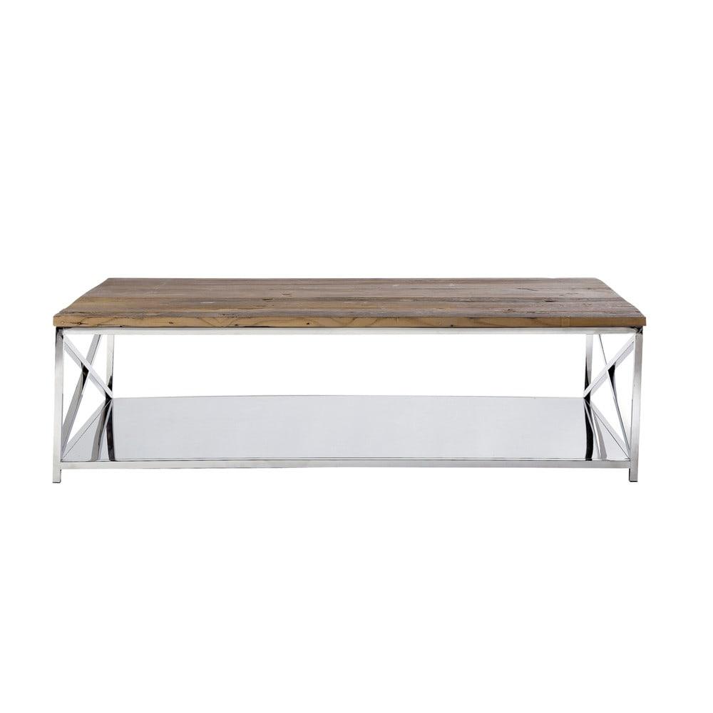Table basse indus bergen maisons du monde for Maison du monde table basse